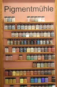 Die große Auswahl an Pigmenten lädt zum experimentieren ein