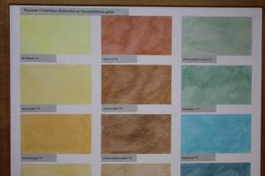 Die Sumpfkalkfarbe lässt sich färben und lasieren